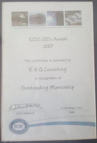 ECDC CEO's AWARD 2007