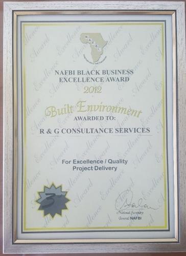 NAFBI BLACK BUSINESS EXCELLENCE AWARD 2012